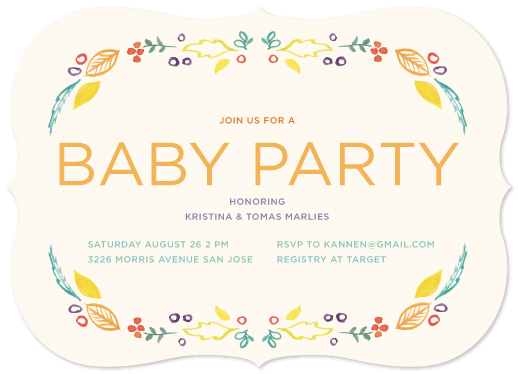baby shower invitations - Autumn Jewels by Kristin Annen