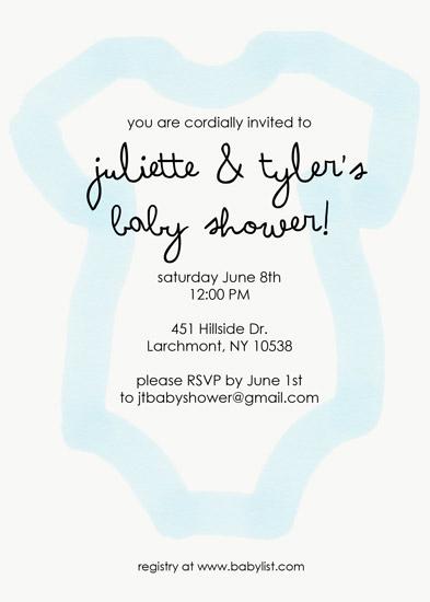 baby shower invitations - watercolor onesie baby shower invitation by Mariko Iwata