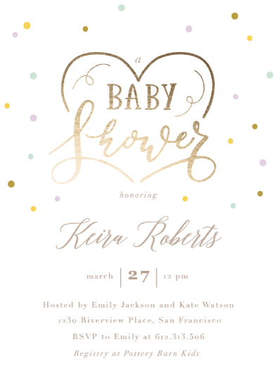 baby shower invitations - shower love by Creo Study