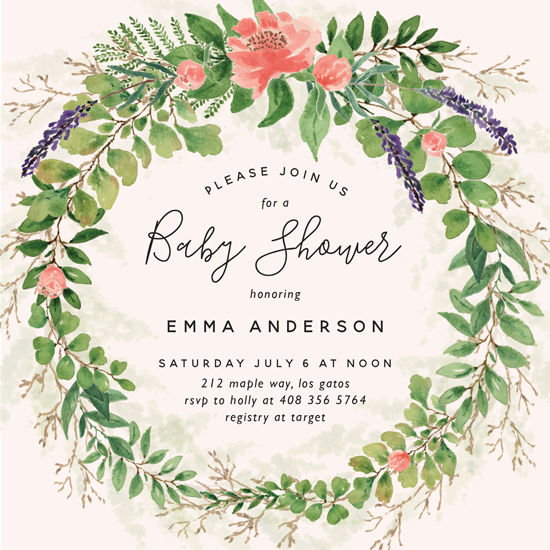 baby shower invitations - Garden Shower by Chris Griffith