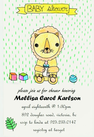 baby shower invitations - Happy Baby's Life by Grace Z