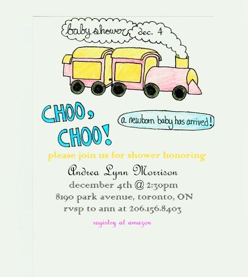 baby shower invitations - Choo, Choo! by Grace Z