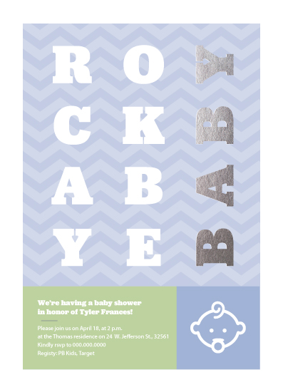baby shower invitations - Rockabye Baby by Mary Cecelia