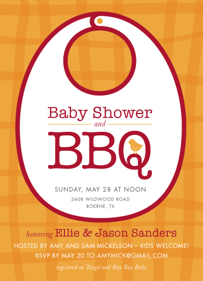 baby shower invitations - BBQ by PrintHappy Designs