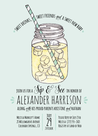 baby shower invitations - Sweet Sips by Lauren M Design