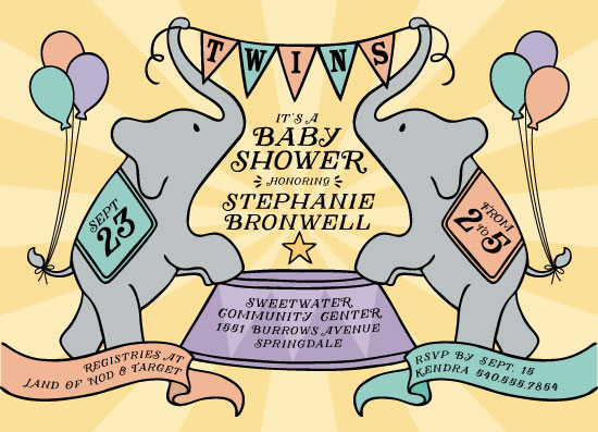 baby shower invitations - It's a Circus by Lauren M Design