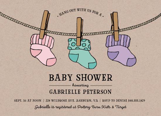 baby shower invitations - Baby Socks by Lauren M Design