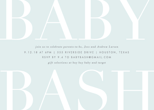 baby shower invitations - Big Bash by Lauren Chism