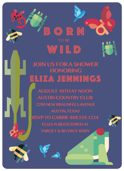 baby shower invitations - Born to Be Wild by Carrie Shannon