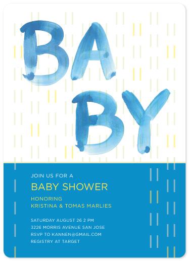baby shower invitations - Happy Rain by Kristin Annen