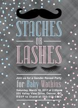 Stashes or Lashes Gende... by Willow Lane Paper