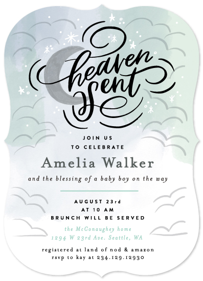 Baby Shower Invitations Heaven Sent At Minted Com