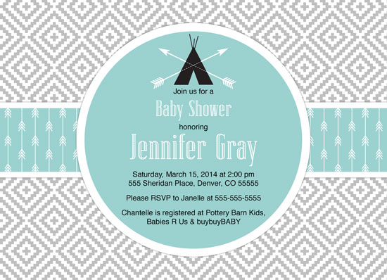 baby shower invitations - aztec tribal baby shower invitation by Willow Lane Paper