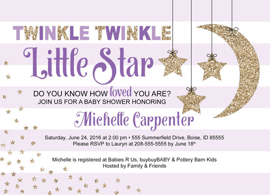 baby shower invitations twinkle twinkle little star baby shower