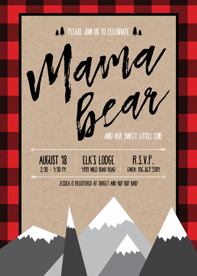baby shower invitations - Lumberjack Baby by Champagne Paper Co.