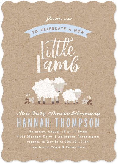 baby shower invitations - Little Lamb by Karidy Walker