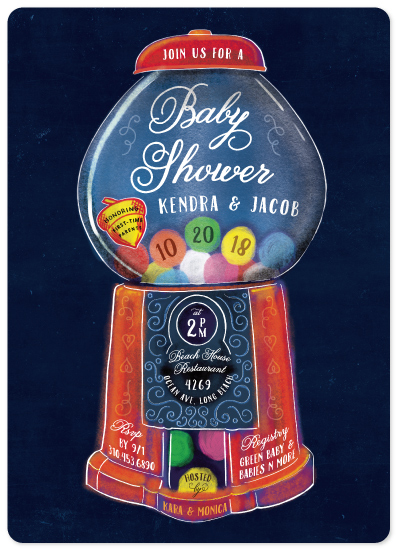 baby shower invitations - Old Fashioned Gumball Machine by Becky Nimoy
