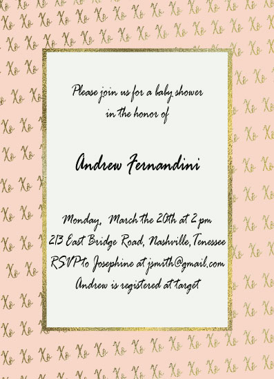 baby shower invitations - XOXO by Vivian Design