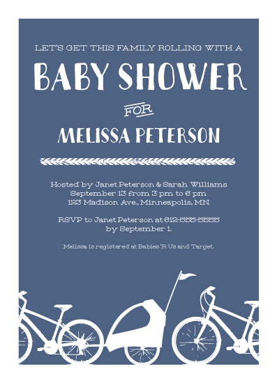 baby shower invitations - Rolling Family by Kimiyo Prints