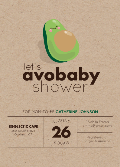 baby shower invitations - Avobaby by Annie Dickerson