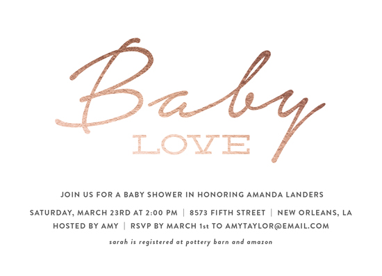 baby shower invitations - Simple Baby Love by Chasity Smith
