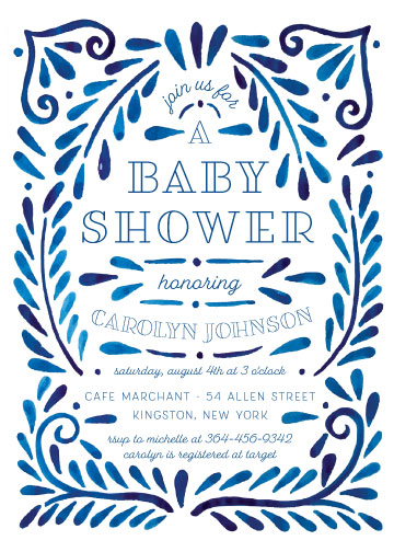 baby shower invitations - Painted Ornate Frame by Katharine Watson