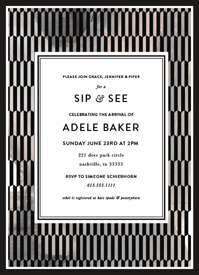 baby shower invitations - Sip and See Decor by Simeone and Shierhorn