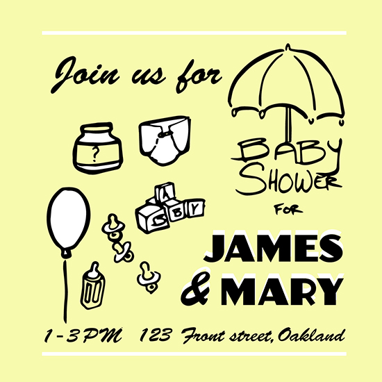baby shower invitations - Baby Games by Ryan