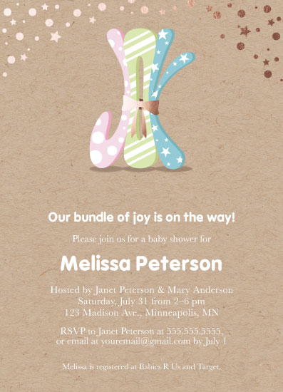 baby shower invitations - Little Bundle of Joy by Kimiyo Prints