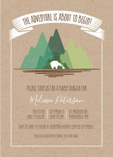 baby shower invitations - Adventure Beginnings by Kimiyo Prints