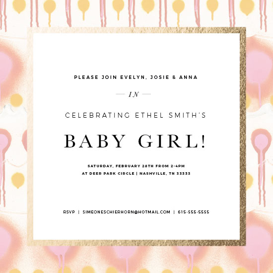 baby shower invitations - Baby Girl Bright Color Pops by Simeone and Shierhorn