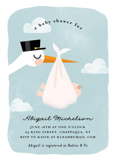 baby shower invitations - Special Delivery by Anne Holmquist