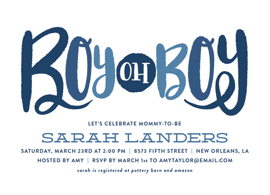 baby shower invitations - Boy oh Boy Tie by Chasity Smith