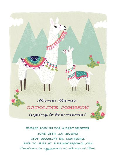 baby shower invitations - Llama, llama by Jackie Crawford