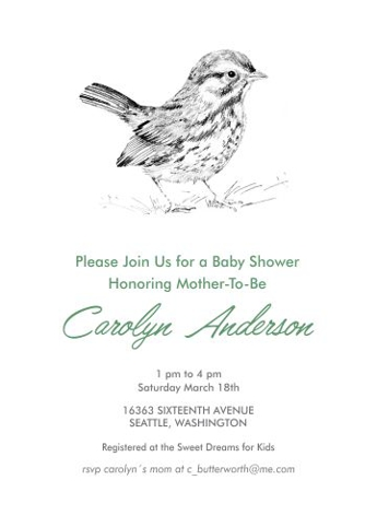 baby shower invitations - Baby Sparrow by Corinne Aelbers
