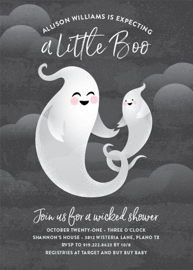baby shower invitations - Little Boo by Jessica Ogden