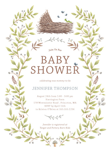 baby shower invitations - Enchanted Lullaby by Paula Pecevich
