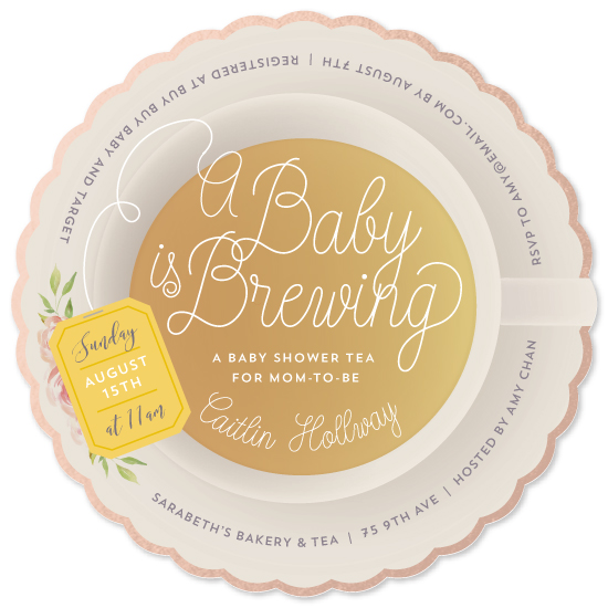 baby shower invitations - Baby Brewing by Dawn Jasper