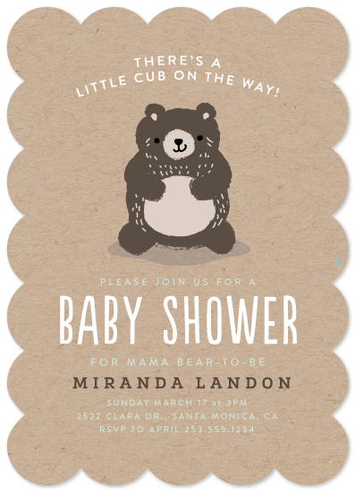 baby shower invitations - Baby Bear by Itsy Belle Studio