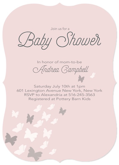 baby shower invitations - Butterfly Migration by Hallie Fischer