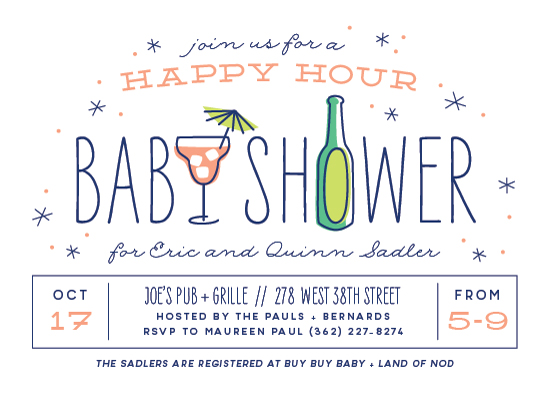 baby shower invitations - Happy Hour by Laura Hankins