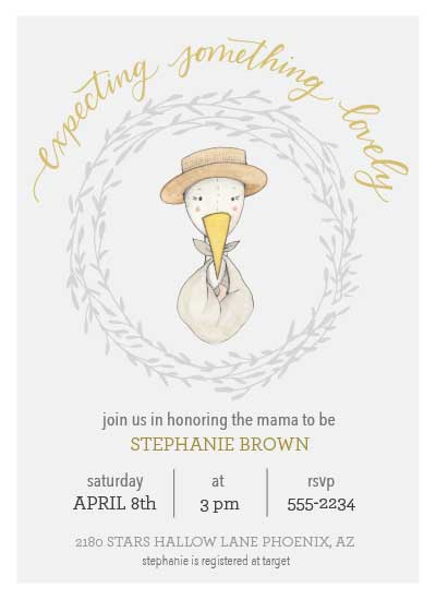 baby shower invitations - Expecting Something Lovely by Coley Kuyper