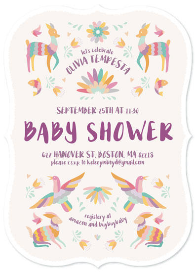 baby shower invitations - Party Animals by Kelsey Mucci