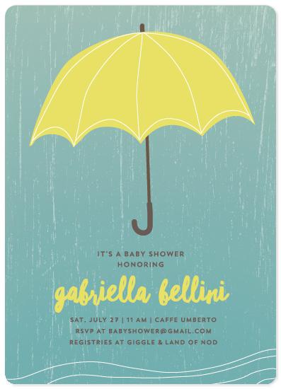baby shower invitations - bright brella by Guess What Design Studio