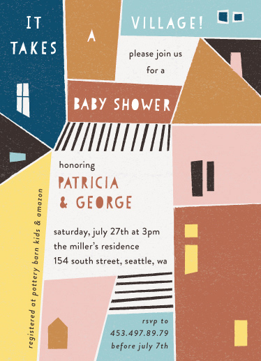 baby shower invitations - Papercut Village by lulu and isabelle