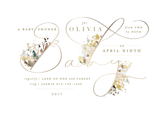 baby shower invitations - Little Garden by Lori Wemple
