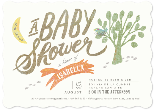baby shower invitations - Woodland Romp by Griffinbell Paper Co.
