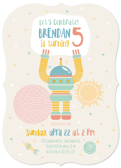 birthday party invitations - Space time by Igor
