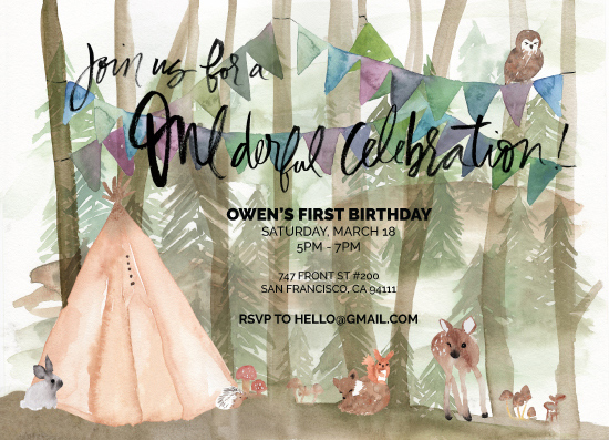 birthday party invitations - ONEderful Celebration by Lisa Aihara