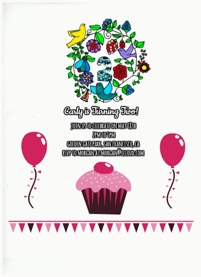 birthday party invitations - Girl's Second Birthday by itsgrace